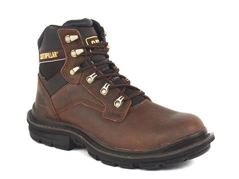 Caterpillar Generetor Steel Toe  Men's Work Brown Leather Boots