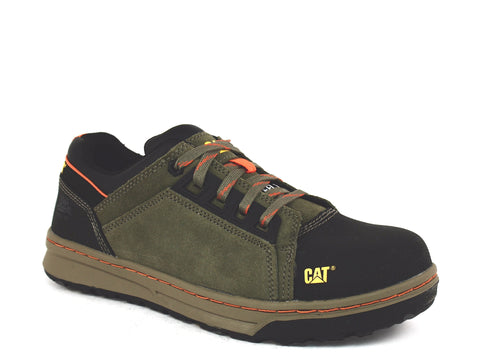Caterpillar Concave LO ST Men's Steel Toe Shoes Olive Suede Leather
