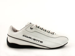 Corvette  Men's White Driving Shoes