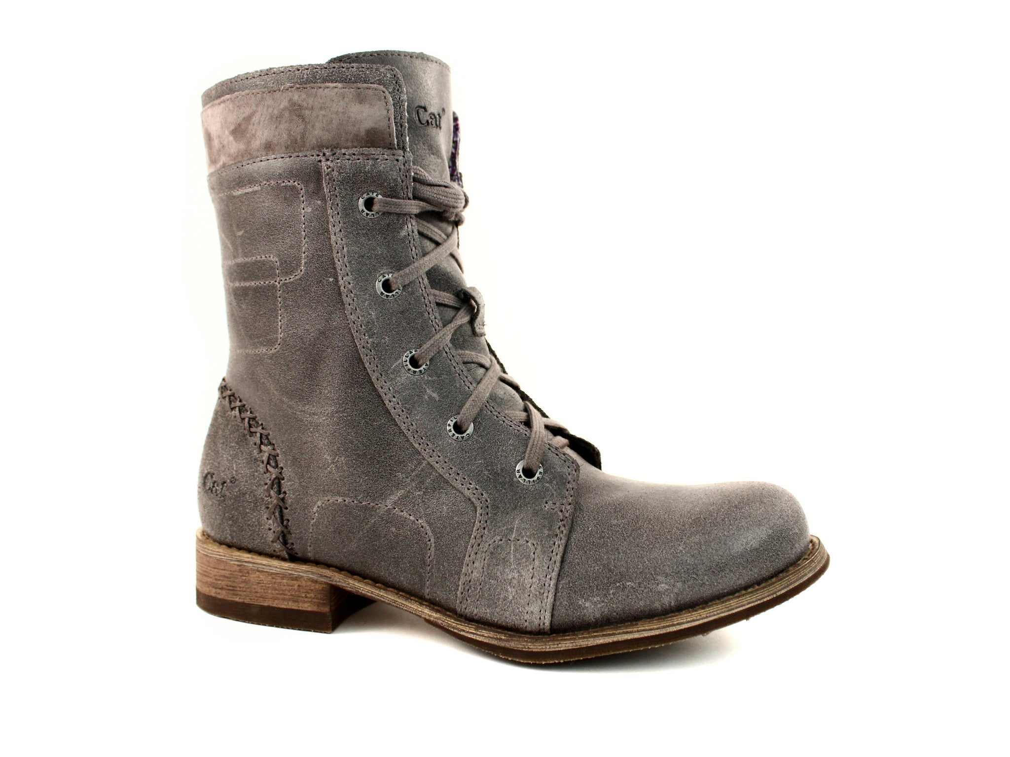 "Caterpillar Maisie 6"" Ankle Women's Boots Gray Leather"