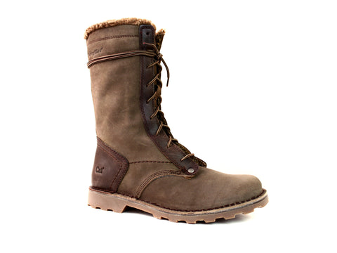 Caterpillar VENEER WP CT Comp Toe Waterproof Women's Pull On Brown Leather Boot