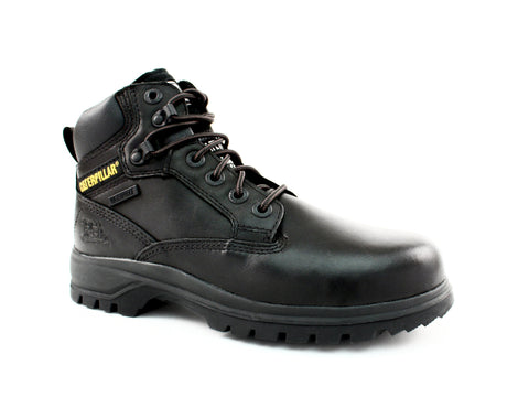 Caterpillar Kitson WPF Mid Cut Women's Black Leather Boots