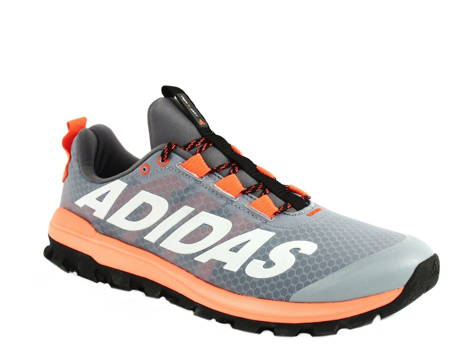 f94788625 Adidas Vigor Athletic Running Men s Sneakers Grey Orange – ShoeVariety.com