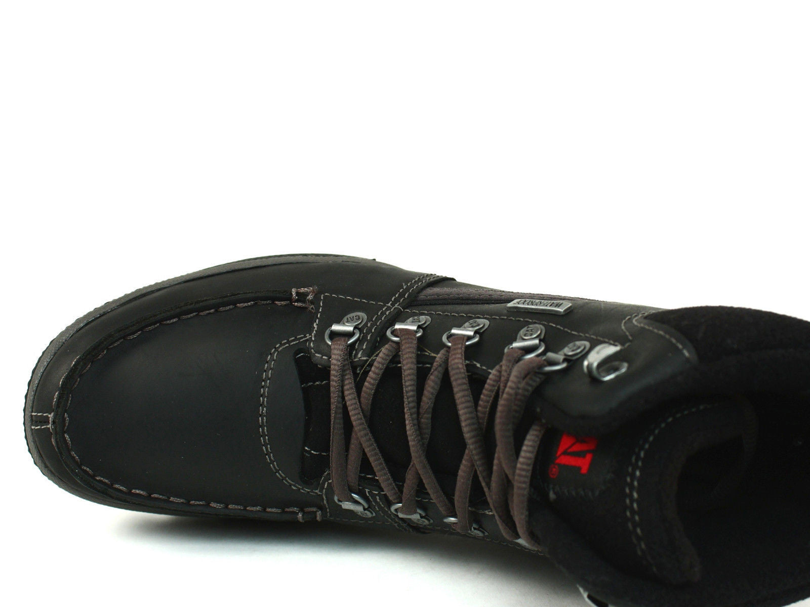Caterpillar TRENT Waterproof Mid Cut Mens Casual Work Hiking Black Leather Boots