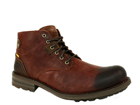 Caterpillar Newcastle Men's  Brown Leather Boots