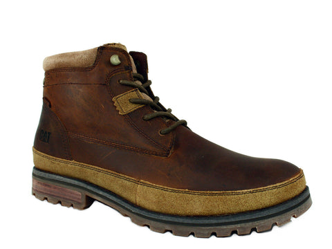 Caterpillar Oatman  Dark Beige Men's Leather Boots