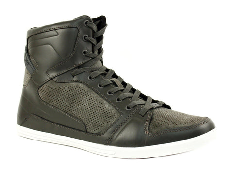 Kenneth Cole GOT U SY HI Top Athletic Men's Casual Grey Leather Shoes Sneakers