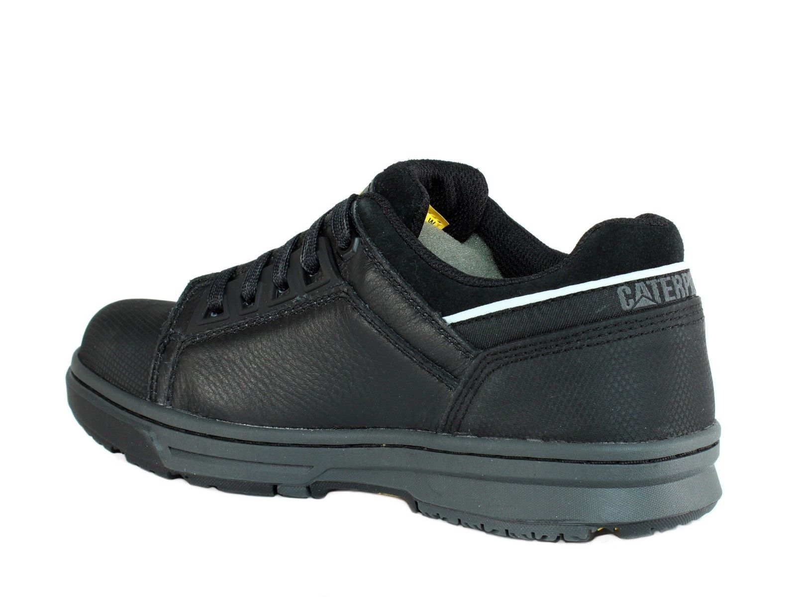 Caterpillar CONCAVE LO ST Steel Toe Women/'s Work Black Leather Shoe