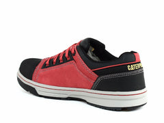 Caterpillar Concave LO ST Men's Steel Toe Shoes True Red Suede Leather