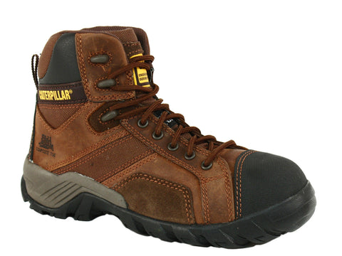 Caterpillar ARGON HI WMNS Comp Safety Toe Women's Work Brown Boots