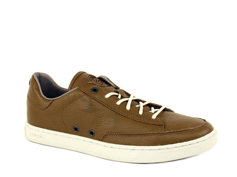 Diesel LO-CULTURE Men's Casual Fashion Low-Cut Bronze Brown Leather Shoe Sneaker