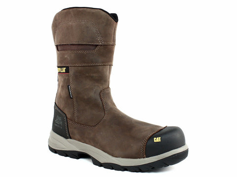 Caterpillar JENKA WP CT Pull On Comp Toe Waterproof Men's Work Leather Boots