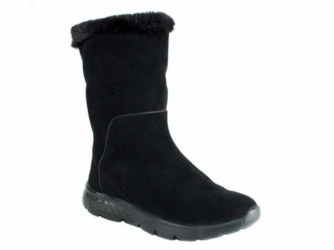 Skechers ON THE GO Women's Casual Winter Warm Black Suede Boots