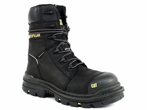 "Caterpillar MORTISE 8"" WP CT Men's Work Black Leather Boots"