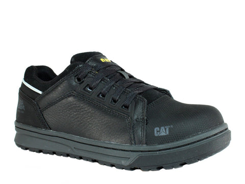 Caterpillar CONCAVE LO ST Steel Toe Women's Work Black Leather Shoe