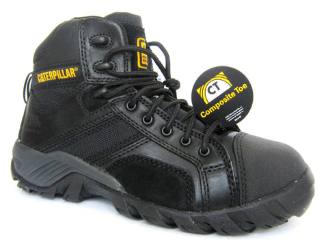 Caterpillar Argon HI Composite Toe Women's Black Leather Work Boots