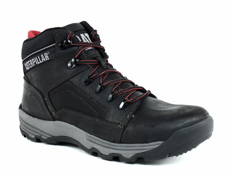 Caterpillar SERIES Slip Resistant Men's Work Casual Hiker Black Leather Boots