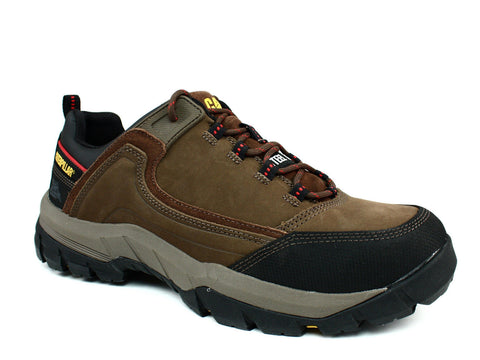 Caterpillar Crompton ST Steel Toe EH Men's Work Safety Brown Shoes Sneakers