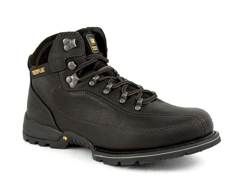 Caterpillar Akon Mid Cut iTechnology Men's Casual Work Boots Black Leather
