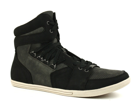 Kenneth Cole WHAT I GOT SY HI Top Men's Shoes, Black Nubuck Sneakers