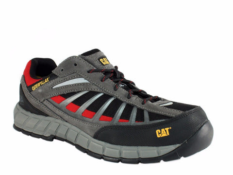 Caterpillar INFRASTRUCTURE ST EH Steel Toe Slip Resistant Men's Work Black Shoe