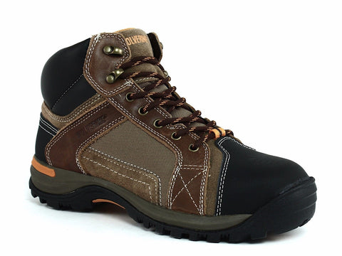 "Wolverine CHISEL MID 6"" Steel Toe EH Men's Work and Safety Brown Leather Boot"