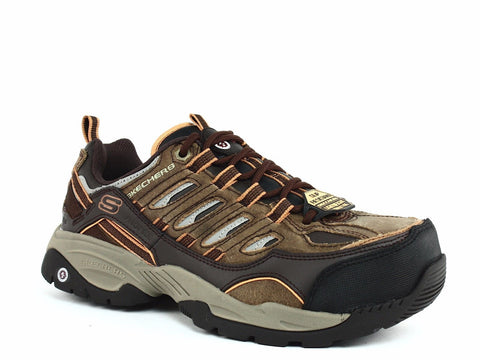 Skechers COMMAND Steel Toe EH Menss Work & Safety Brown Sneakers Shoes