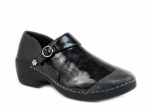 Rocky 4EurSole Women's Nurse Clogs three styles in 1 pair of Shoes Black Marble