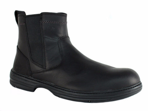 Caterpillar INHERIT Pull On ST Steel Toe Men's Casual Work Black Leather Boot
