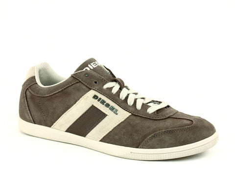 Diesel VINTAGY LOUNGE Men's Sand Leather Suede Sneakers