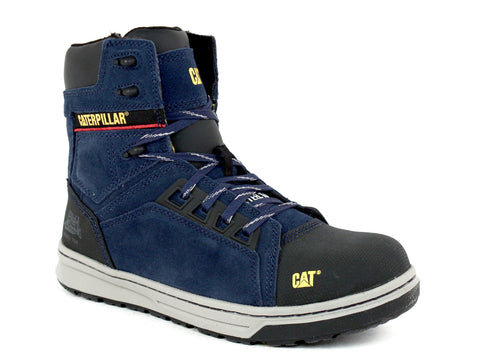 Caterpillar Concave HI ST Men's Steel Toe Boots Navy Suede Leather