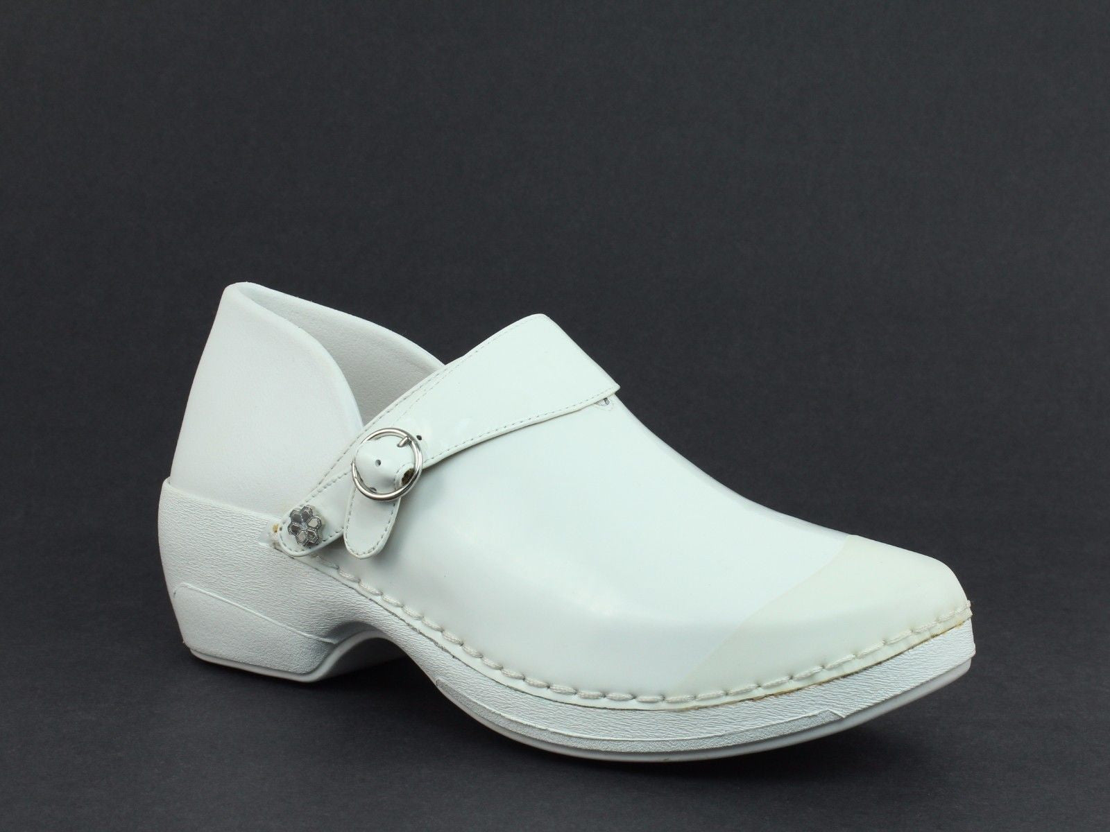 Rocky 4EurSole Women's Nurse Clogs three styles in 1 pair of shoes White
