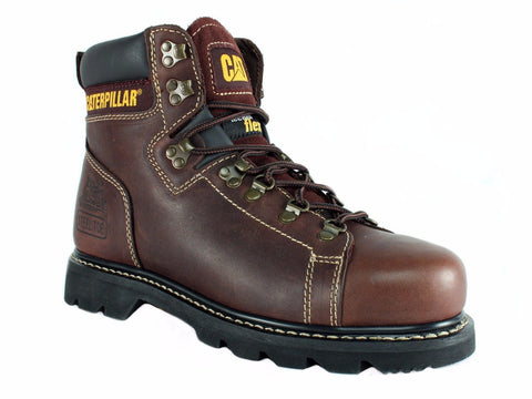 Caterpillar ALASKA FX ST Steel Toe Men's Work Safety Brown Leather Boots