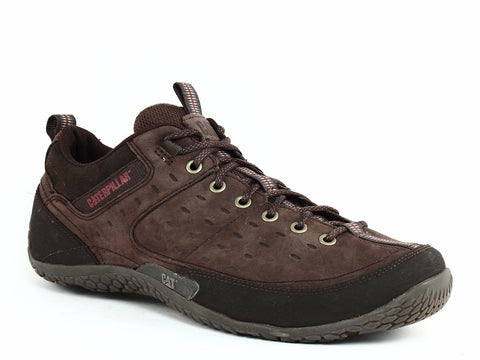 Caterpillar EDGE Men's Work Casual Athletic Brown Leather Shoes Sneakers
