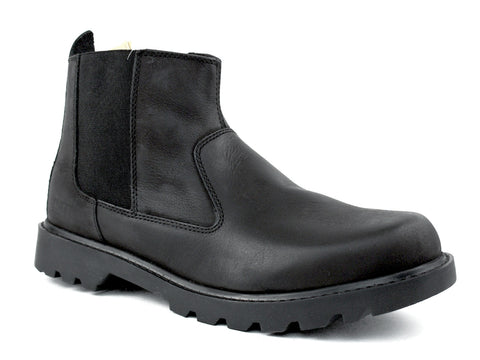 "Caterpillar Drysdale 6"" Pull On Men's Black Leather Boots"