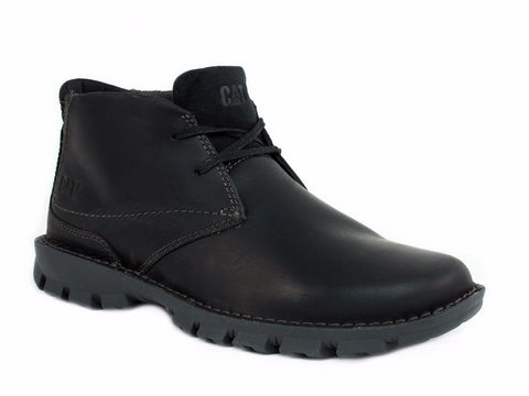 Caterpillar MOVEMENT Oxford Men's Work Casual Black Leather Shoes