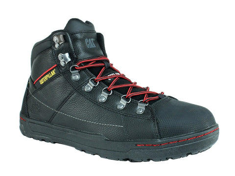 Caterpillar BRODE HI ST SG Steel Toe Men's Work Black Leather Shoes Boots