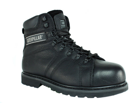 Caterpillar SILVERTON SG ST Steel Toe Men's Work Safety Black Leather Boot
