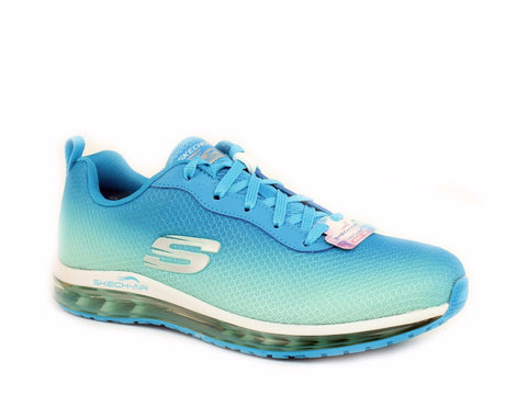 Skechers AIR ELEMENT Women's Casual Fashion Training Running Blue Mint Sneaker