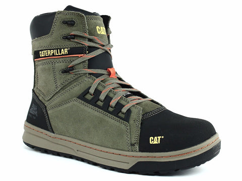 Caterpillar Concave HI ST Men's Steel Toe Boots Olive Suede Leather