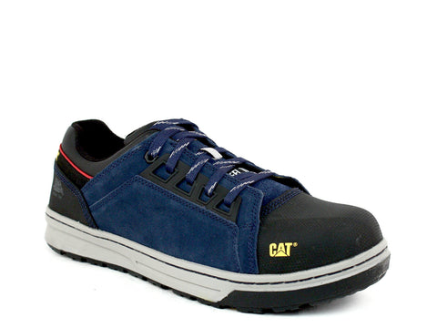 Caterpillar Concave LO ST Steel Toe Men's Navy Leather Suede Shoes