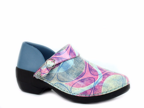 Rocky 4EurSole Women's Nurse Clogs three styles in 1 pair of shoes Blue/Rose