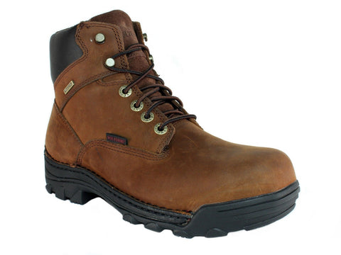 "Wolverine DURBIN 6"" Steel Toe EH Waterproof Men's Work Safety Brown Leather Boot"