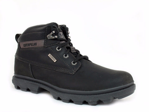 Caterpillar GRADY WP Waterproof Mid Cut Men's Casual Work Black Leather Boots
