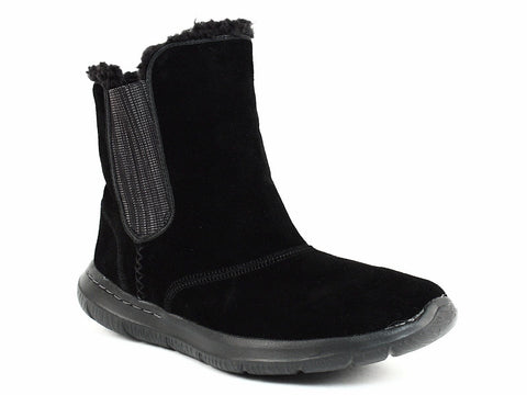 Skechers GO WALK Chugga Women's Casual Ankle Winter Warm Black Suede Boots