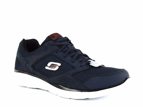 Skechers EQUALIZER Men's Athletic Walking Running Casual Navy Sneakers Shoes