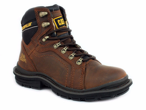 "Caterpillar MANIFOLD 6"" Slip Resistant Soft Toe Men's Work Brown Oak Leather Boot"