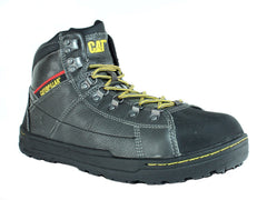 Caterpillar BRODE HI SG Steel Toe Men's Work Gray Leather Shoes Boots