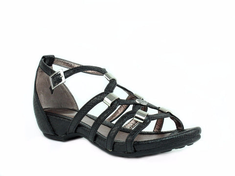 Harley Davidson LEONIE Women's Black Leather Sandals