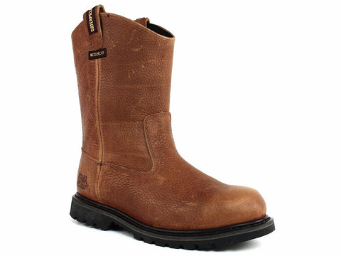 Caterpillar EDGEWORK Pull On Waterproof Slip Resistant Men's Work Leather Boots